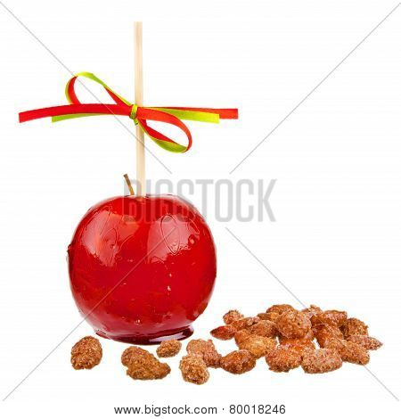 candied apple and almonds