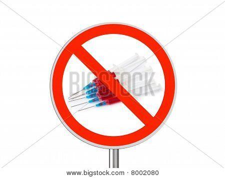Circle Sign No Drugs