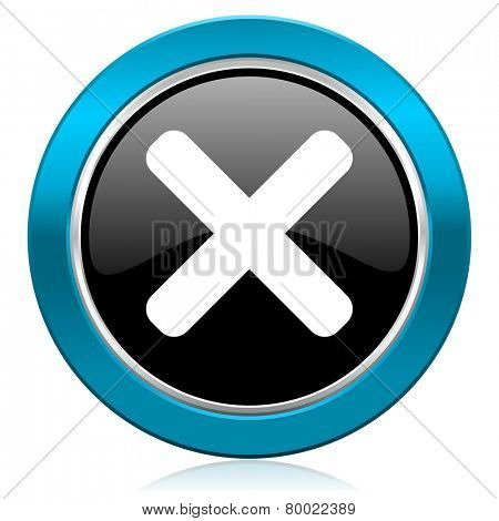 cancel glossy icon x sign