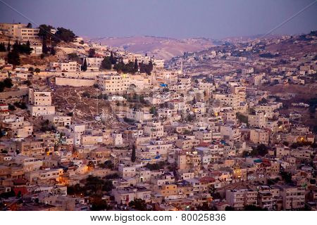 East Jerusalem In Evening Light