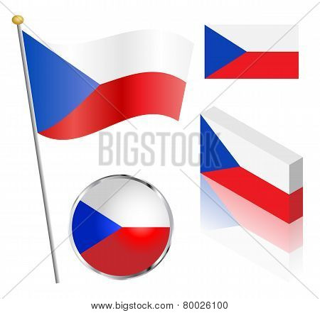 Czech Republic Flag Set
