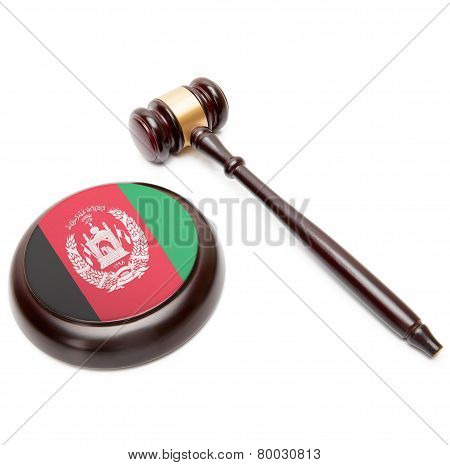 Judge Gavel And Soundboard With National Flag On It - Afghanistan