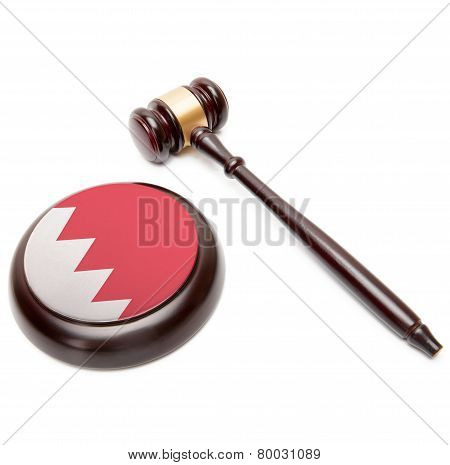 Judge Gavel And Soundboard With National Flag On It - Bahrain