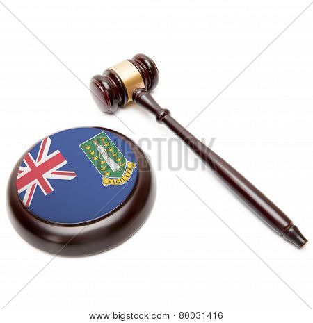 Judge Gavel And Soundboard With National Flag On It - British Virgin Islands