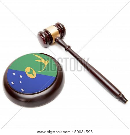 Judge Gavel And Soundboard With National Flag On It - Christmas Island