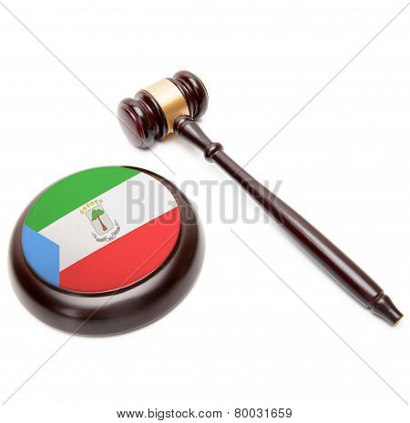 Judge Gavel And Soundboard With National Flag On It - Equatorial Guinea