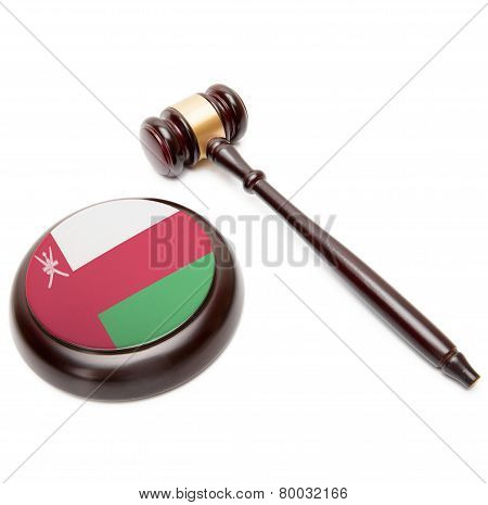 Judge Gavel And Soundboard With National Flag On It - Oman