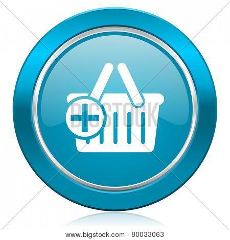 cart blue icon shopping cart symbol
