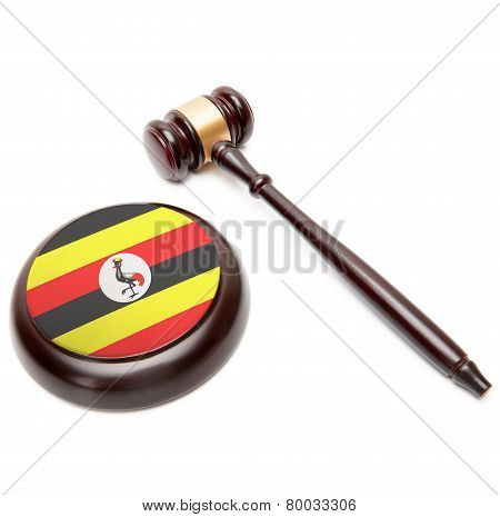 Judge Gavel And Soundboard With National Flag On It - Uganda