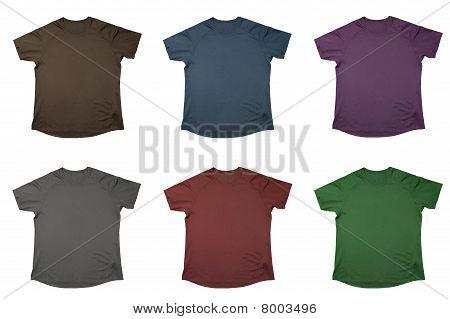 Six T-shirts