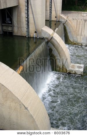 Dam with water