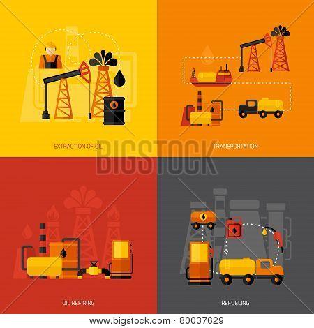 Oil Industry Flat