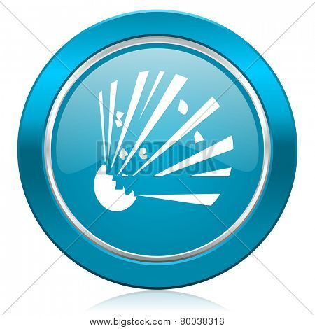 bomb blue icon
