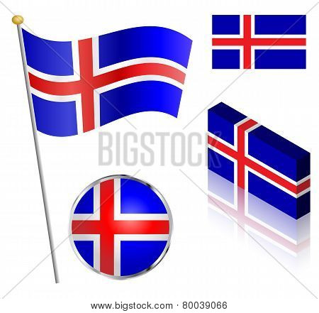 Icelandic Flag Set