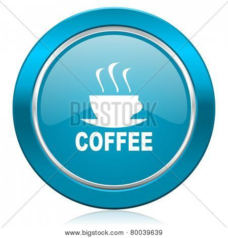 espresso blue icon hot cup of caffee sign