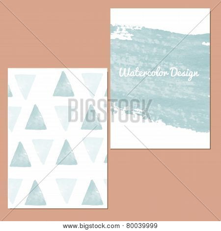 Vector set of invitation cards.