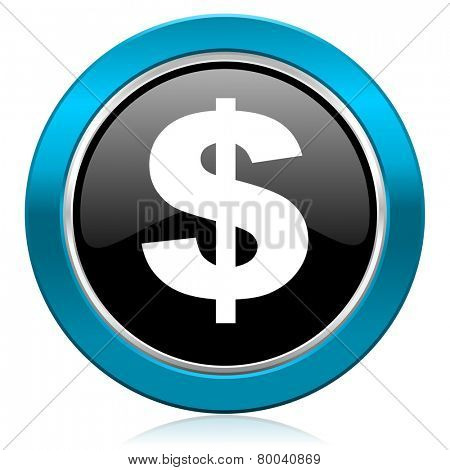 dollar glossy icon us dollar sign