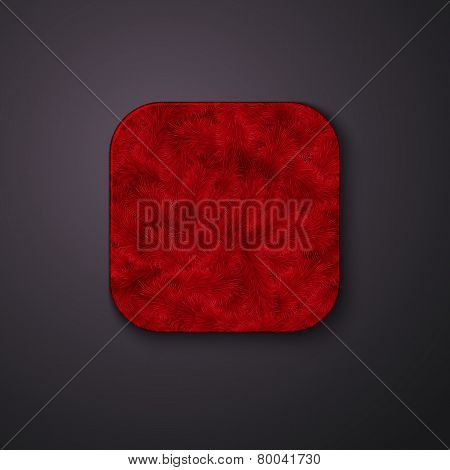 Fluffy texture icon stylized like mobile app. Vector illustratio