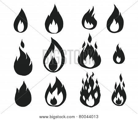 Fire flames,
