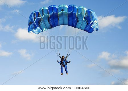 Planning Girl-parachutist