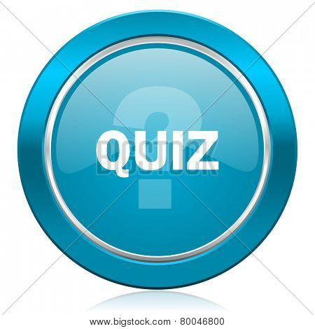 quiz blue icon