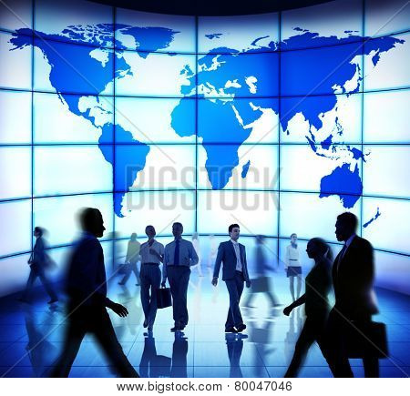Business People Commuter Technology Security Global World Concept