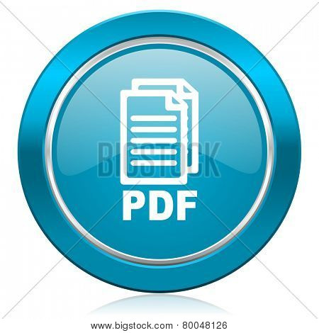 pdf blue icon pdf file sign