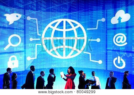 Diversity Business People Global Communication Financial Concept