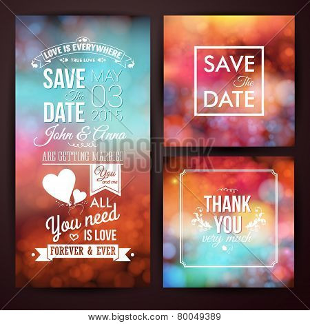 Save the date for personal holiday and thank you card.