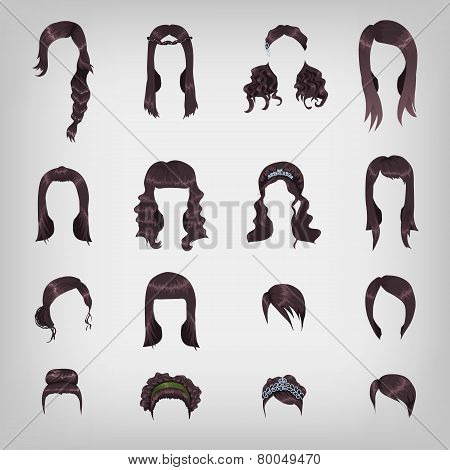 Assortment Of Female Brunette Hair