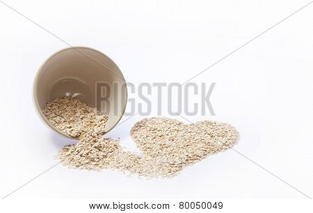 Rolled Oats Heart
