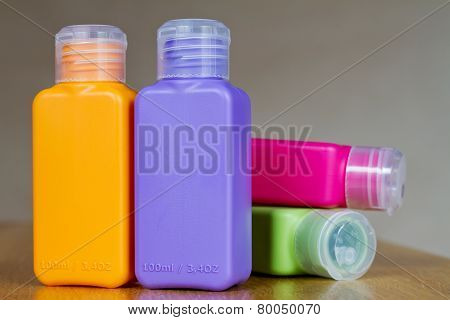 Small Colored Plastic Bottles For Traveling
