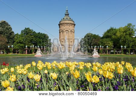 Wasserturm (water tower) in Mannheim