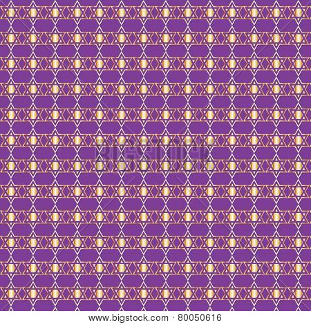 Golden Star Of David Seamless Background Pattern
