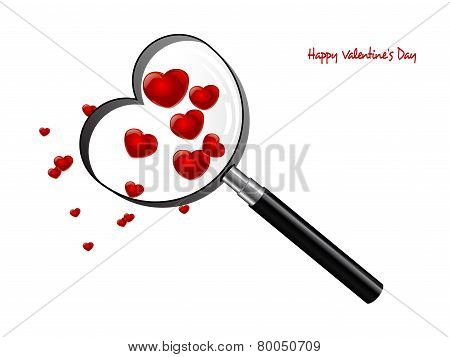 Magnifying Glass As Heart