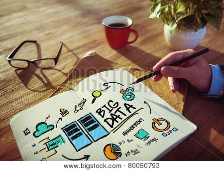 Businessman Big Data Design Planning Information Concept