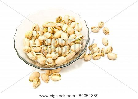 Plate With Tasty Pistachios