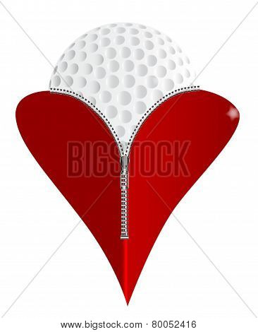 Love Golf Icon