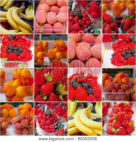 Fruit Market Collage