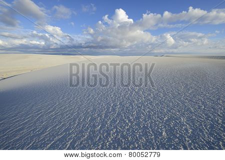 Low Angle View of White Sand Dunes