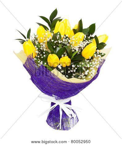 Yellow Tulips Bouqet