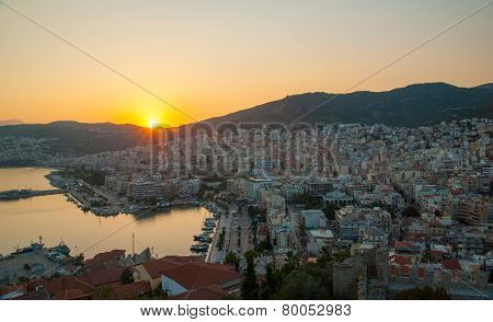 City Of Kavala In Greece (summer Resort Place)