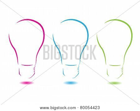 Colorful Lightbulb Abstract Logo