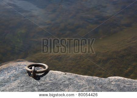 Mooring Link By Lake