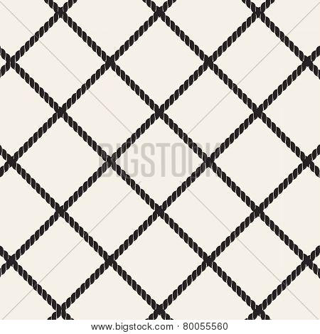 Vector Seamless Pattern. Stylish Texture With Twisted Ropes