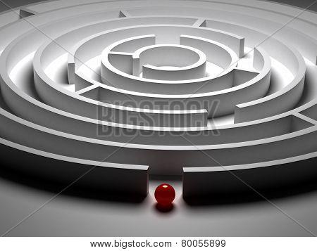3D  Circular maze