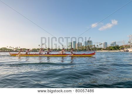 Hawaiian Outrigger Canoe Team