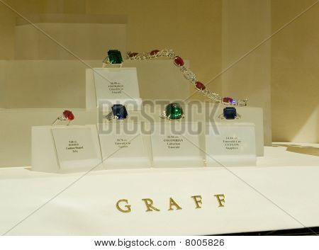 Graff Jewellery window, Bond street