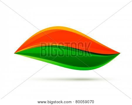 vector indian flag design illustration in leaf style