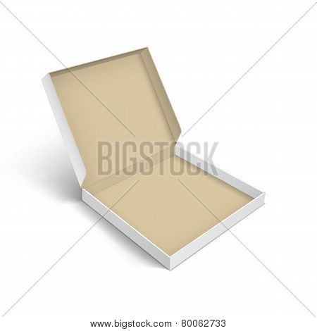 Pizza Box Packaging Template Isolated on White Background